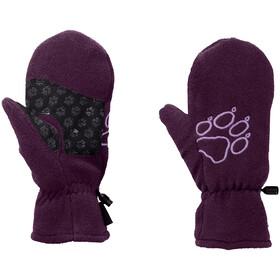 Jack Wolfskin Fleece Vingerloze Fietshandschoenen Kinderen, aubergine
